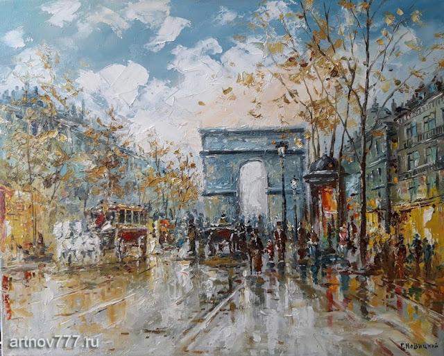 Парижские улицы в полдень