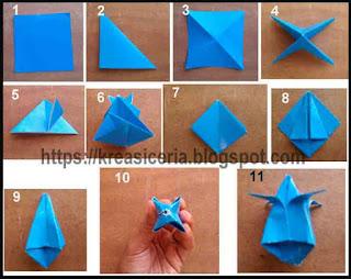 Tutorial membuat Origami bunga tulip