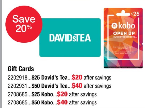 20 Off David S Tea Kobo Gift Cards Until April 17