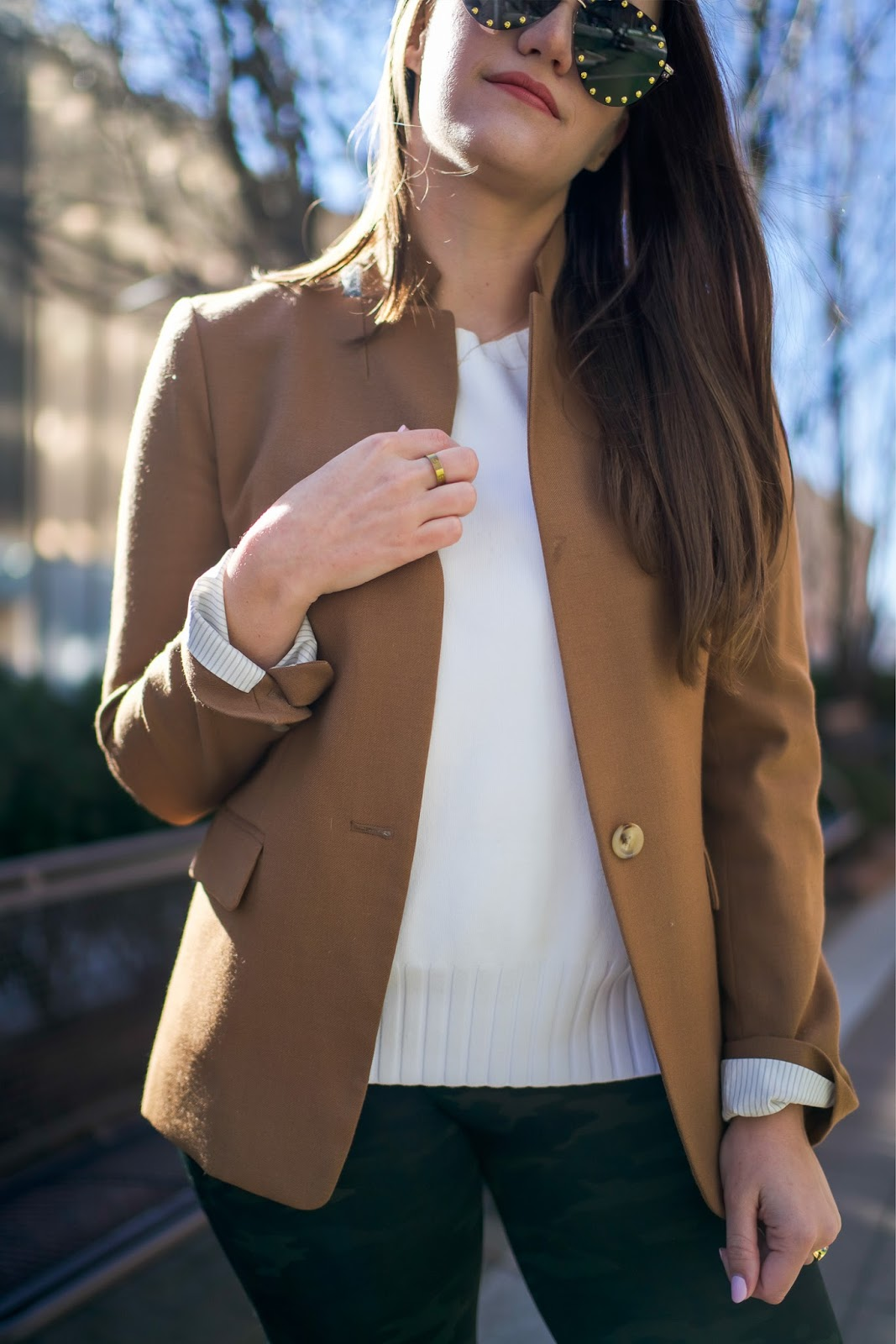 popular New York style blogger Covering the Bases