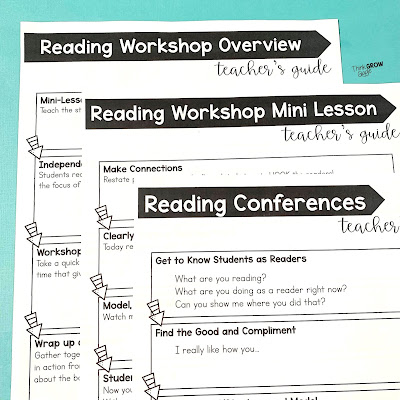 reader's workshop forms for upper elementary
