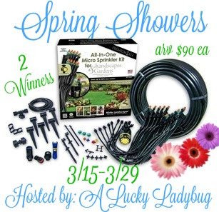 Enter the Spring Showers Giveaway. Ends 3/29