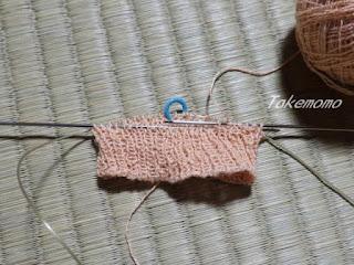 パトラコットンリネン割糸のリストウォーマー
