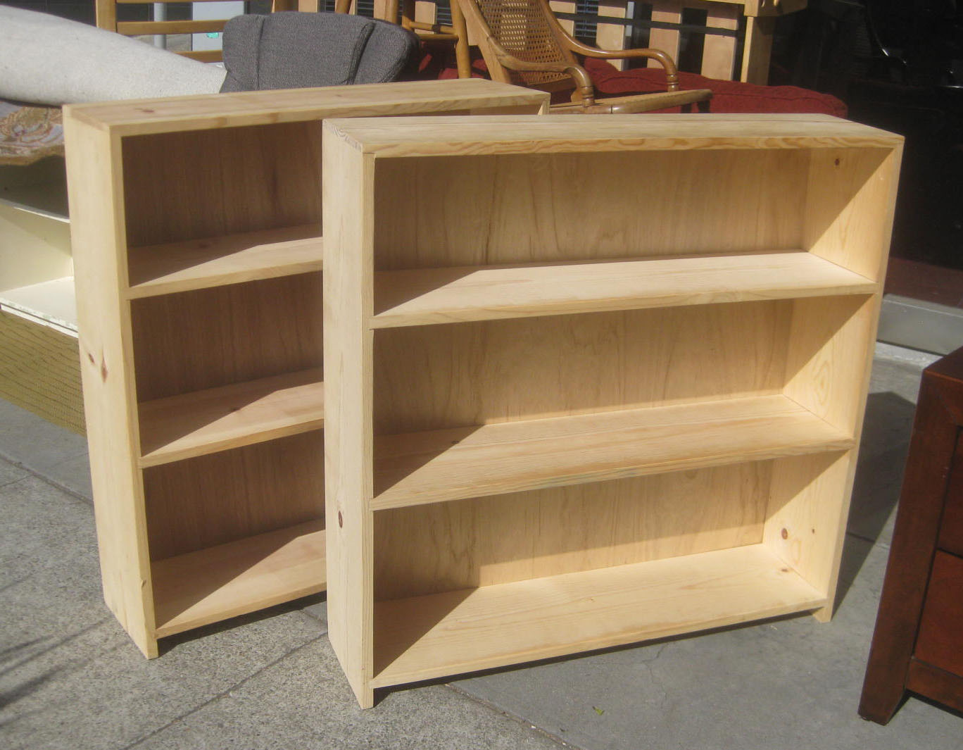 uhuru furniture   collectibles sold unfinished pine Unfinished Wood Bookcases Unfinished Pine Cabinets