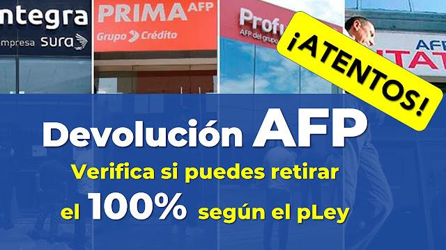 Verifica si puedes retirar el 100% de la AFP de tus fondos y aportes