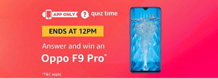 All Answers Of Amazon Oppo F9 Pro Quiz Time 28th November