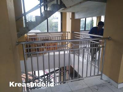 Repeat Order pemasangan Balkon Stainless di Masjid Al Mu Awanah Pancoran Jakarta