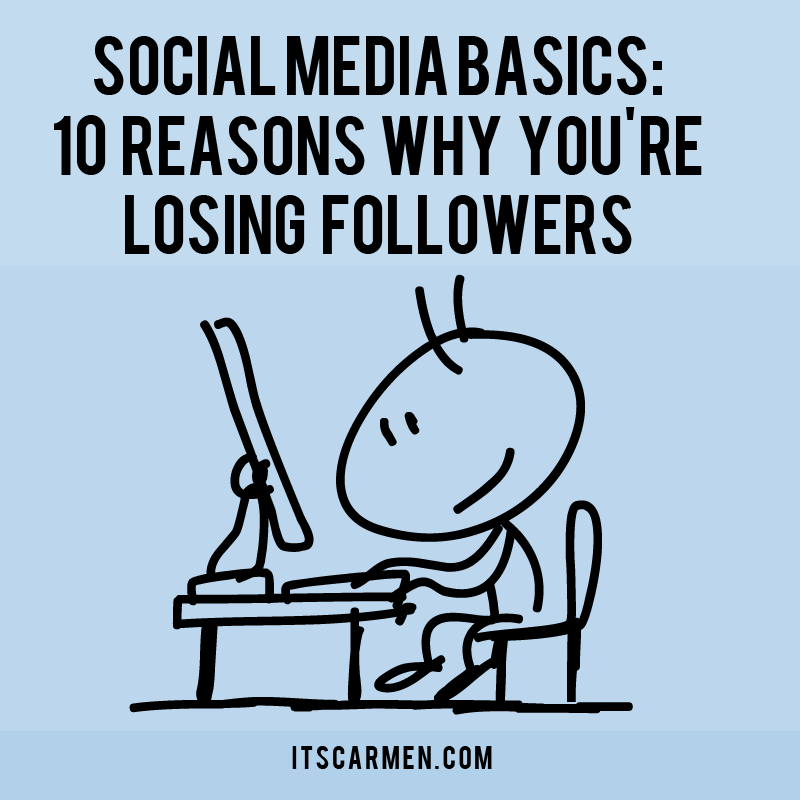 social media basics, losing followers
