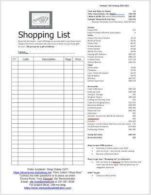2020-2021 AC Shopping List with Donna Ross