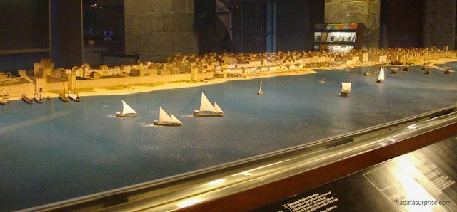 Maquete do porto de Barcelona, no Museu Marítimo de Barcelona