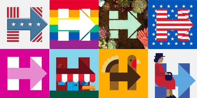 hillary clinton logo design system by michael bierut