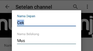 Cara Mengganti Nama Channel Youtube Di HP
