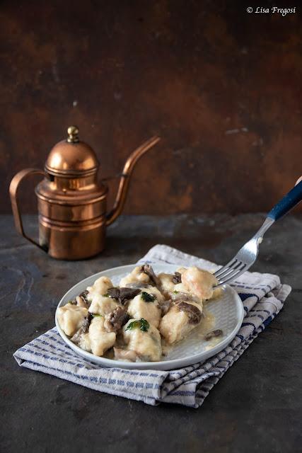 ricette di stagione: Bocconcini di pollo cremosi con funghi
