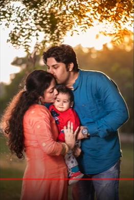 Couple Photoshoot With baby