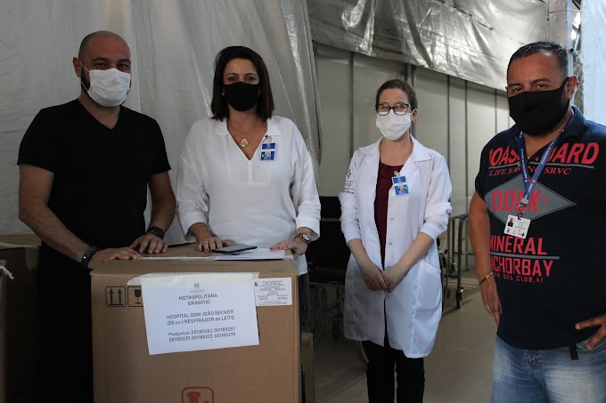 Gravataí recebe cinco respiradores artificiais do Governo Federal