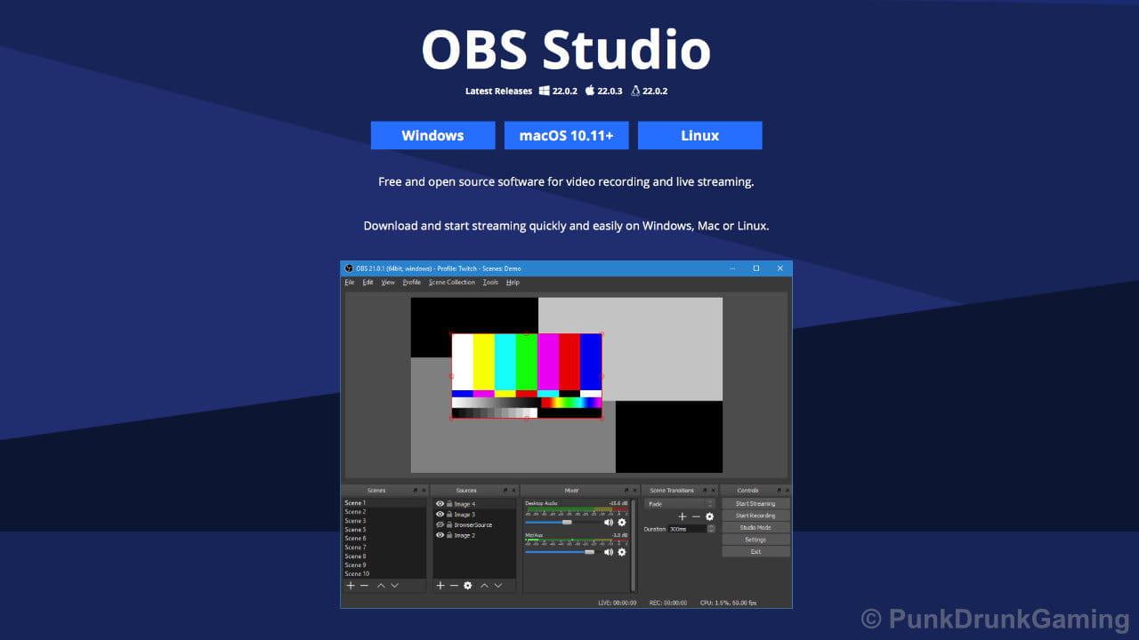 OBS公式サイトのスクリーンショット