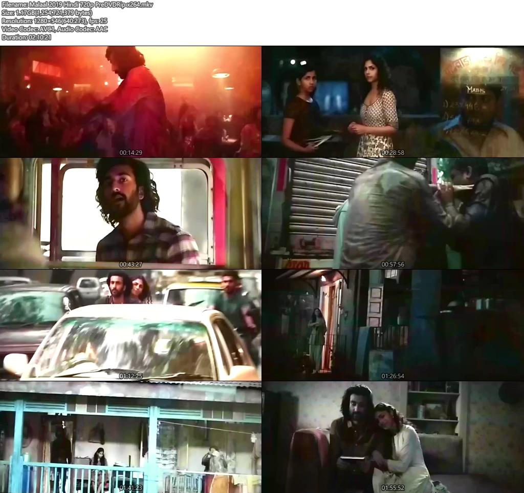 Malaal 2019 Hindi 720p PreDVDRip x264 | 480p 300MB | 100MB HEVC Screenshot