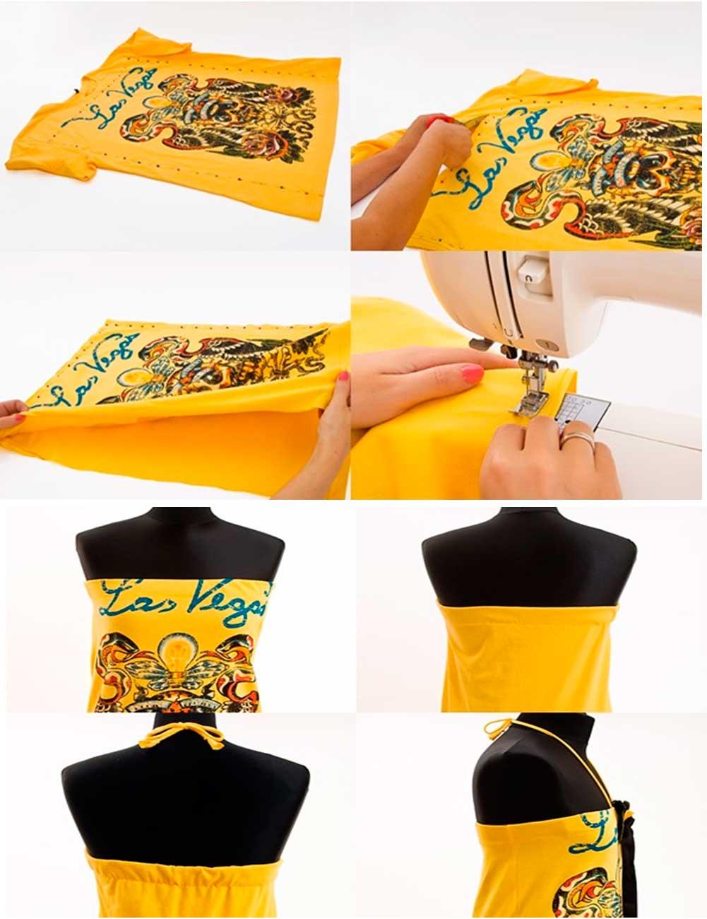 camisetas, shirts, bricomoda, customizar, vestidos, refashion, costura