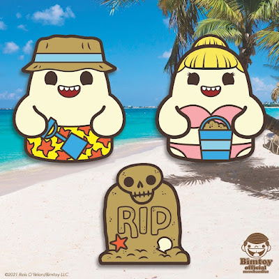 San Diego Comic-Con 2021 Tiny Ghost Exclusives by Reis O'Brien x Bimtoy x Bottleneck Gallery x Fugitive Toys