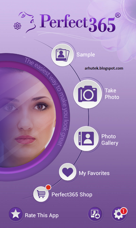 Makeover Wajah Dengan Aplikasi Android, Perfect365 (Review)