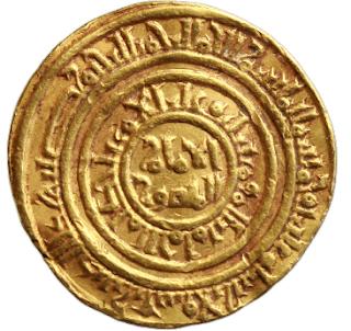 دينار فاطمي ضرب عسقلان  للآمر بأحكام الله سنة 510  هجريه  4.23 غرام  Mint