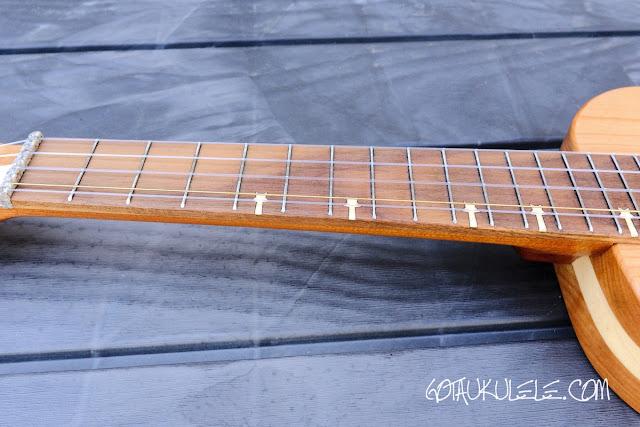 Bonanza 5 String Tenor Ukulele neck
