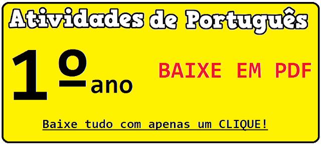 BAIXE EM PDF - Provas de português para 1° ano