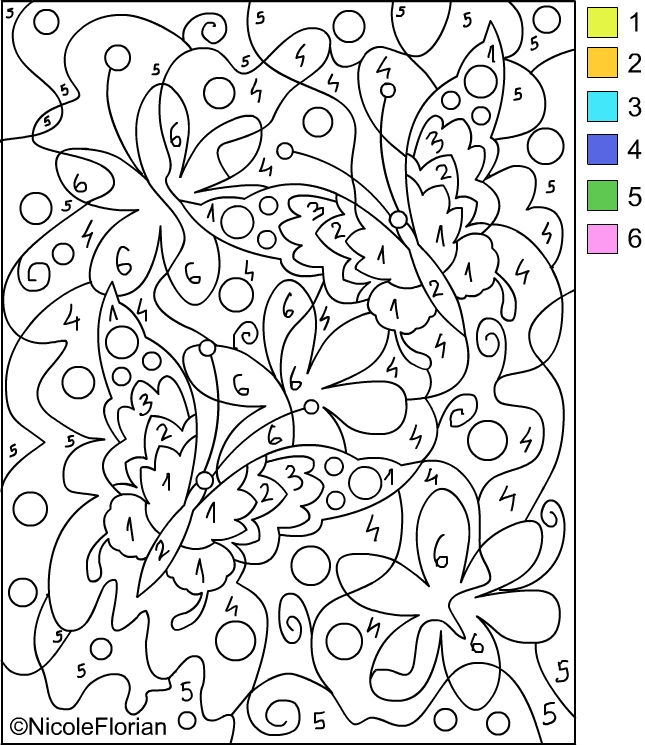 colour by numbers coloring pages - photo#18