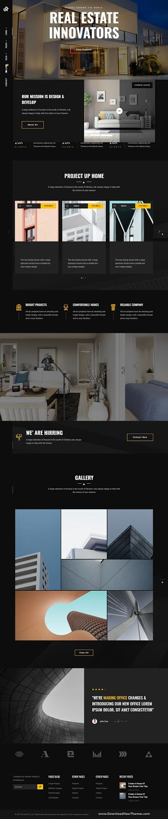 UpHome - Modern Architecture HTML Template