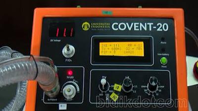 "Ventilator Alat Bantu Pernafasan ""Convent-20"" Buatan Anak Bangsa"