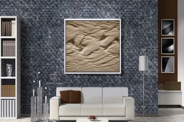 Living Room Wall Design Ideas On Material