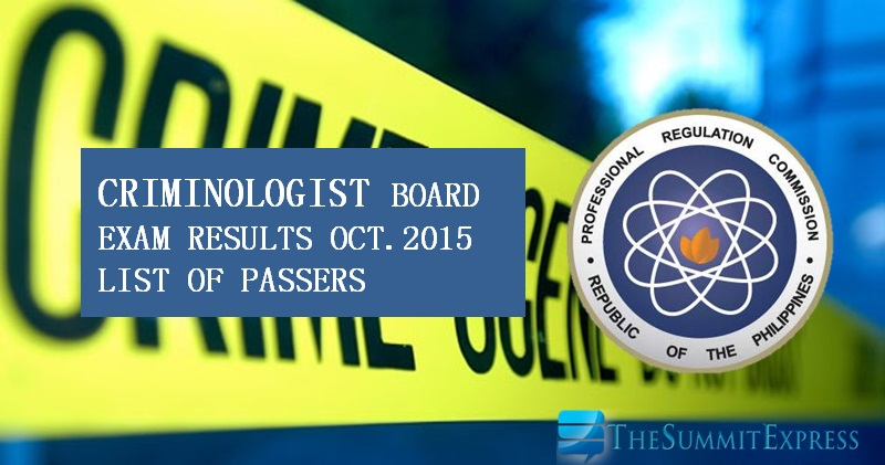 da54f181094b4 List of Passers  October 2015 Criminologist board exam results