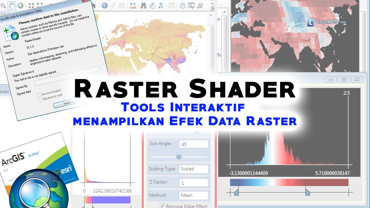 Raster Shader - Tools Interaktif Display Efek Data Raster