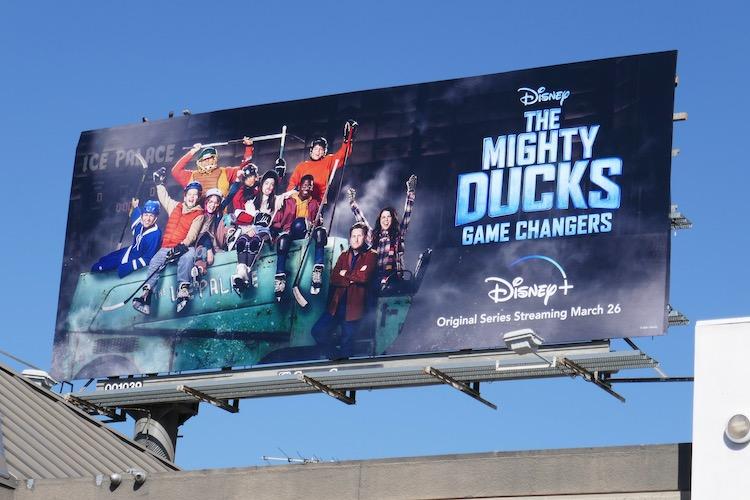 Mighty Ducks Game Changers series premiere billboard