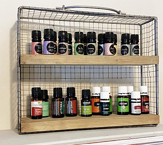 Essential Oil Wall Shelf