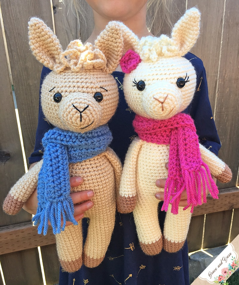 Amigurumi Llama A Free Crochet Pattern Grace And Yarn