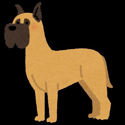 グレートデンのイラスト(犬)