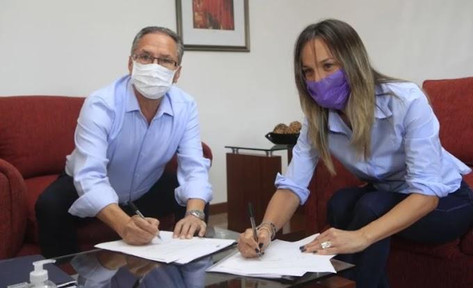 Malena Galmarini y Alberto Descalzo habilitaron una nueva red de agua potable para más de 18.000 vecinos y vecinas de Ituzaingó