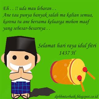 12 DP BBM Ucapan Selamat Hari Raya Idul Fitri 1437 H Terbaru