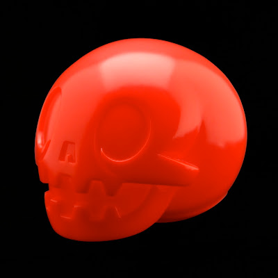 Singapore Toys, Games and Comic Convention 2012 Exclusive Unpainted Red Calaverita Roja Vinyl Skull by The Beast Brothers
