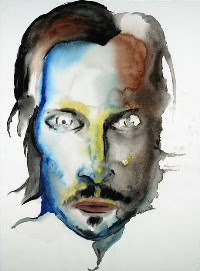 Vincent Gallo, pintura de Marilyn Manson.