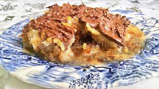 Баклава с орехи, шам фъстък и шоколад