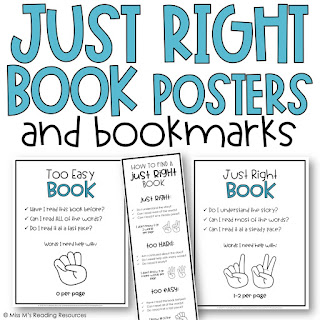 https://www.teacherspayteachers.com/Product/Just-Right-Reading-Freebie-3176670