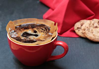 Ilustrasi kopi jamur untuk kesehatan