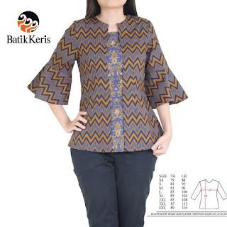 model baju batik keris wanita muslim