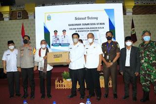 Pasca Ditetapkan PPKM Level 2, Gubernur Sumut Beri Penguatan di Kabupaten Samosir