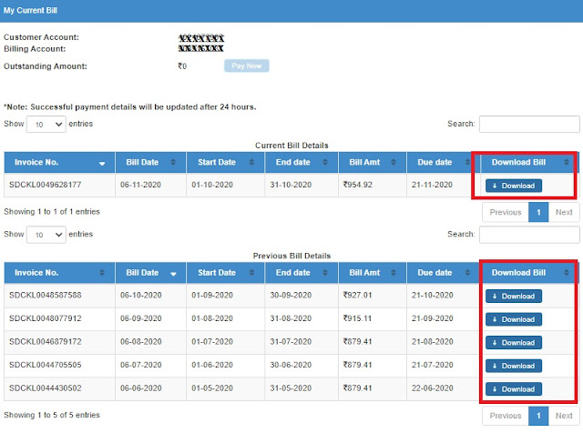 Download your BSNL telephone bills online    How to download BSNL bills up to 1 year old through BSNL Selfcare Portal?
