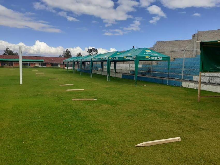 Cajabamba prioriza salud de pobladores y convierte a su estadio en mercado