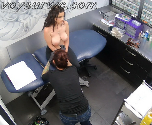 Hidden Cam Piercing Pussy and Nipple (Intimate Piercing 13-17)