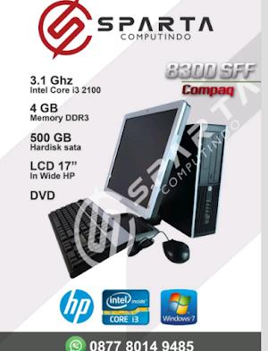 Jual Paket Komputer Desktop Hp 8300 Sff Core I3 2100